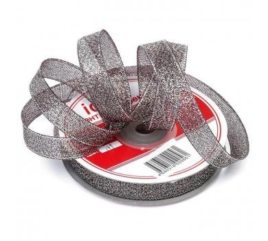 Лента парчовая, цвет черный с серебром, арт. 03395-12