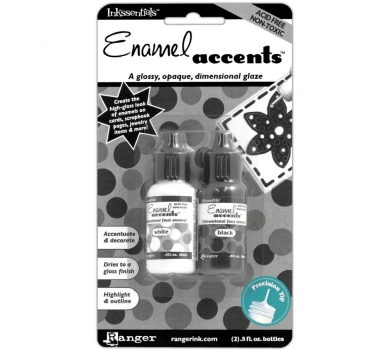Набор эмалевых акцентов Black & White Enamel Accents, GAC27355