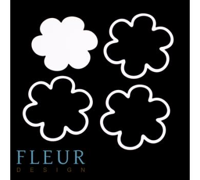 Заготовка для шейкера Цветок маленькая от FLEUR design, FD1531033