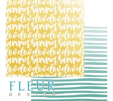 Лист бумаги для скрапбукинга Люблю лето, коллекция Каникулы, арт. FD1005801