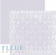 Лист бумаги для скрапбукинга Светлый Черничный, коллекция Шебби Шик Базовая 2.0, FD1007212