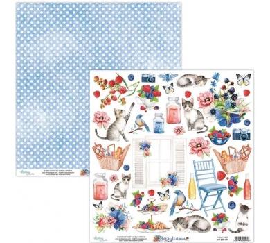 Бумага двусторонняя для скрапбукинга Berrylicious by Mintaypapers, арт. MT-BER-09