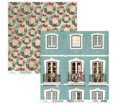 Бумага двусторонняя для скрапбукинга Home for Christmas by Mintaypapers, арт. MT-HFC-04