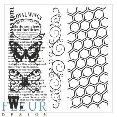 Набор штампов Винтаж с бабочками Фоновые, FD4010010