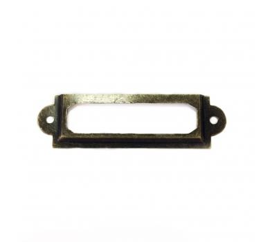 Рамочка металлическая, 6x1.7 см, цвет бронза, KA1421801