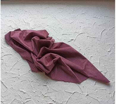Искусственная замша двусторонняя, цвет темный красно-пурпурный, арт. 411620