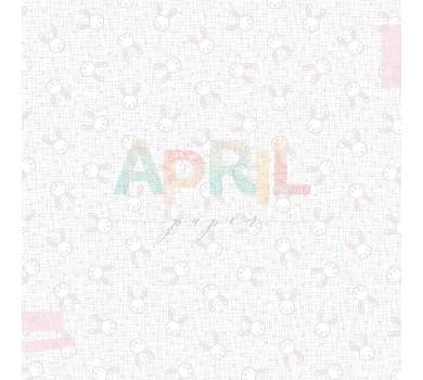 Лист односторонней бумаги для скрапбукинга Наша зайка, коллекция Детские мечты, арт. girl-012-01-7