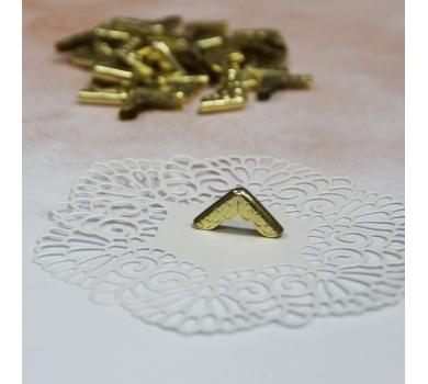 Металлический уголок ажурный, цвет золото, 1 шт., AL04051711