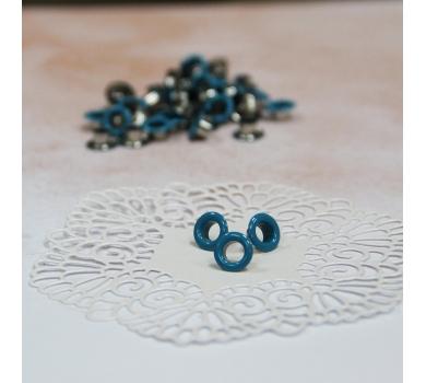 Люверс металлический, цвет Голубой, 5 мм, 1 шт., AL0405173