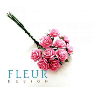 Мини-розочки Розовые, размер цветка 1 см, 10 шт/упаковка FD3072003