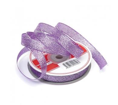 Лента парчовая, цвет фиолетовый с серебром, арт. 03398-12