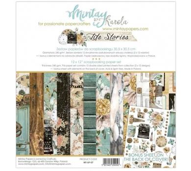 Набор бумаги для скрапбукинга Life stories by Mintaypapers, арт. MT-LIF-071