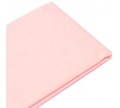 Бумага упаковочная тишью, цвет светло-розовый, 50 см х 76 см, арт. 1786