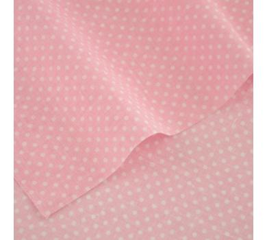 Отрез ткани Белый горох на розовом, арт. 125801