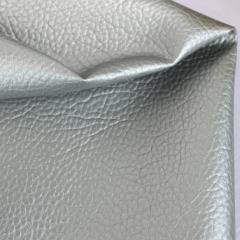 Кожзам на тканной основе с крупным тиснением под кожу, цвет под серебро, 1314032