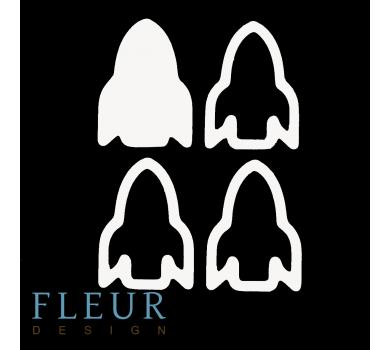 Заготовка для шейкера Ракета маленькая, от FLEUR design, FD1531046