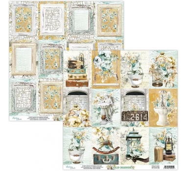 Бумага двусторонняя для скрапбукинга Old Manor by Mintaypapers, арт. MT-OLD-06