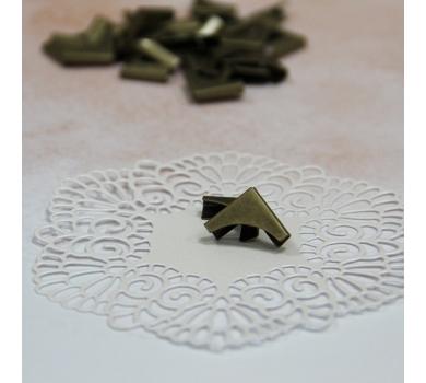 Металлические уголки, цвет бронза, 15*15 мм, 1 шт., AL1024